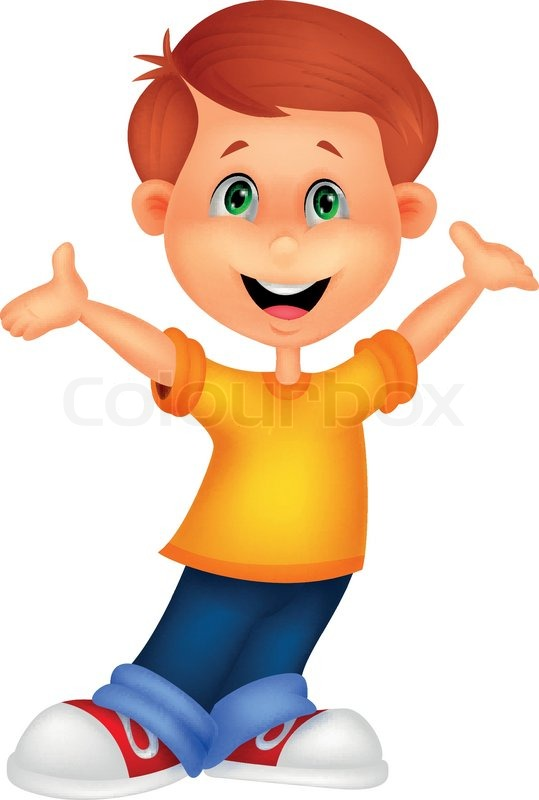 Skateboard Girl Wallpaper Happy Boy Cartoon Posing Stock Vector Colourbox