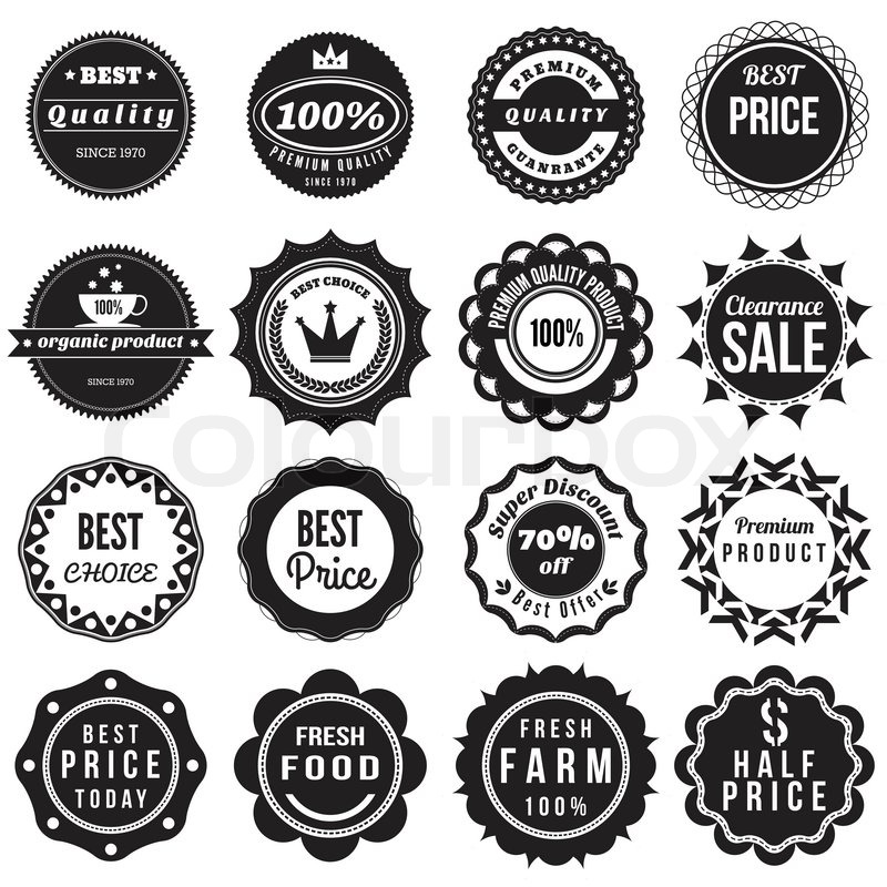 Product vintage Labels template set Stock Vector Colourbox