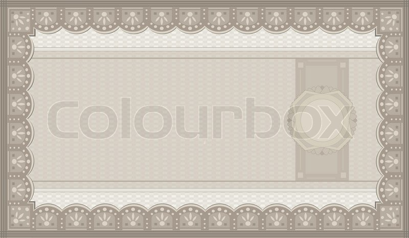 Raster Voucher coupon paper blank template Stock Photo Colourbox - blank voucher