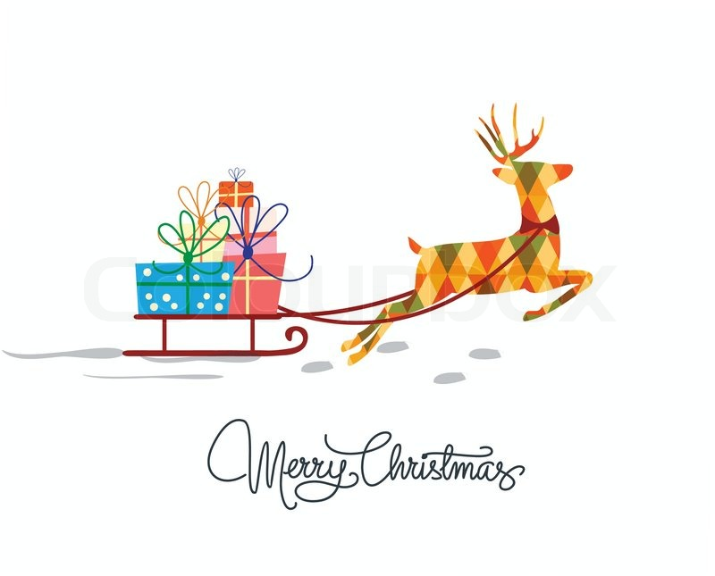 Christmas greeting card template in Stock Vector Colourbox