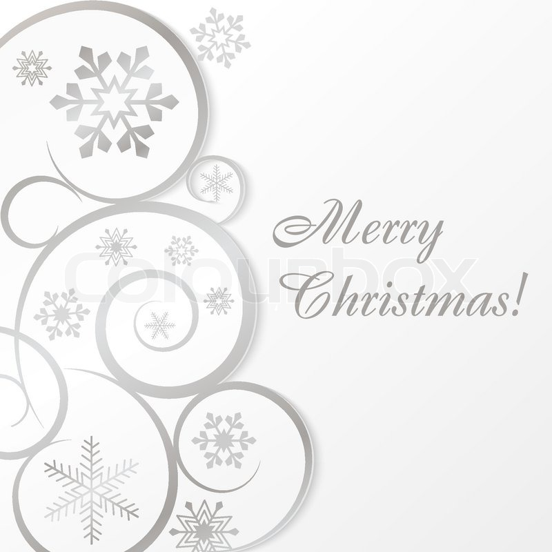 White christmas card or background Stock Vector Colourbox - christmas cards black and white
