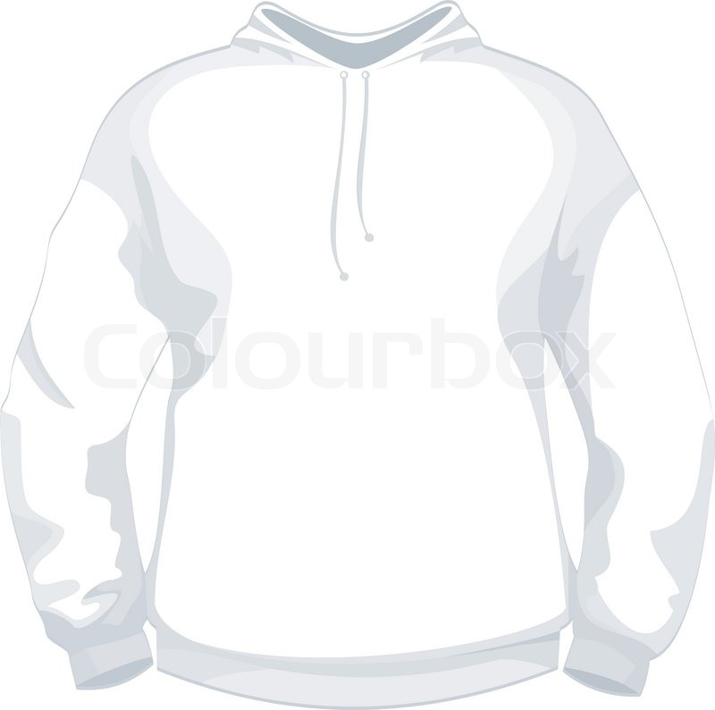 White jacket or sweater design template Stock Vector Colourbox