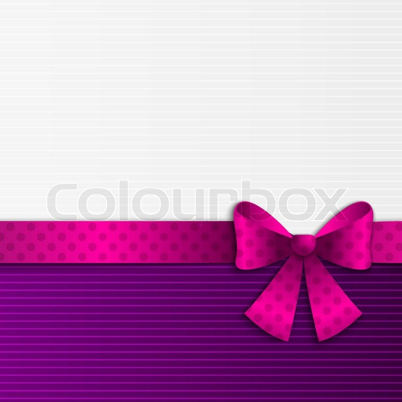 Purple and white background with ribbon Stock Vector Colourbox - purple ribbom