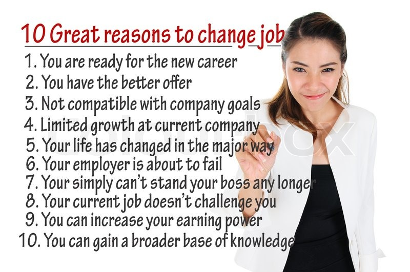 Reason to change job for human resources concept Stock Photo
