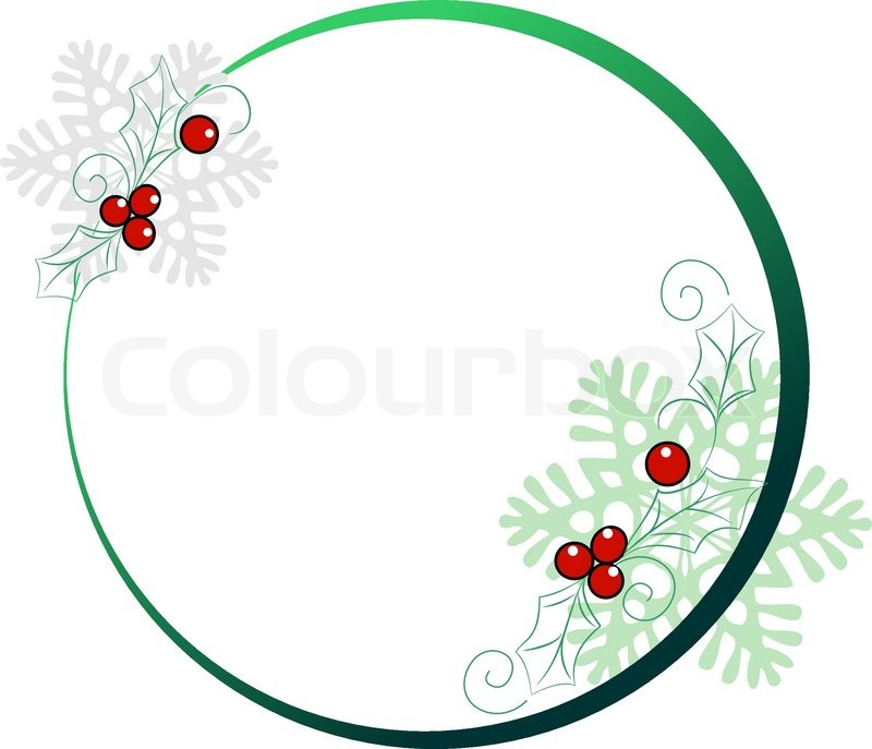 Round frame for Christmas cards Stock Vector Colourbox