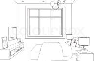 Editable vector illustration of an outline sketch of a ...