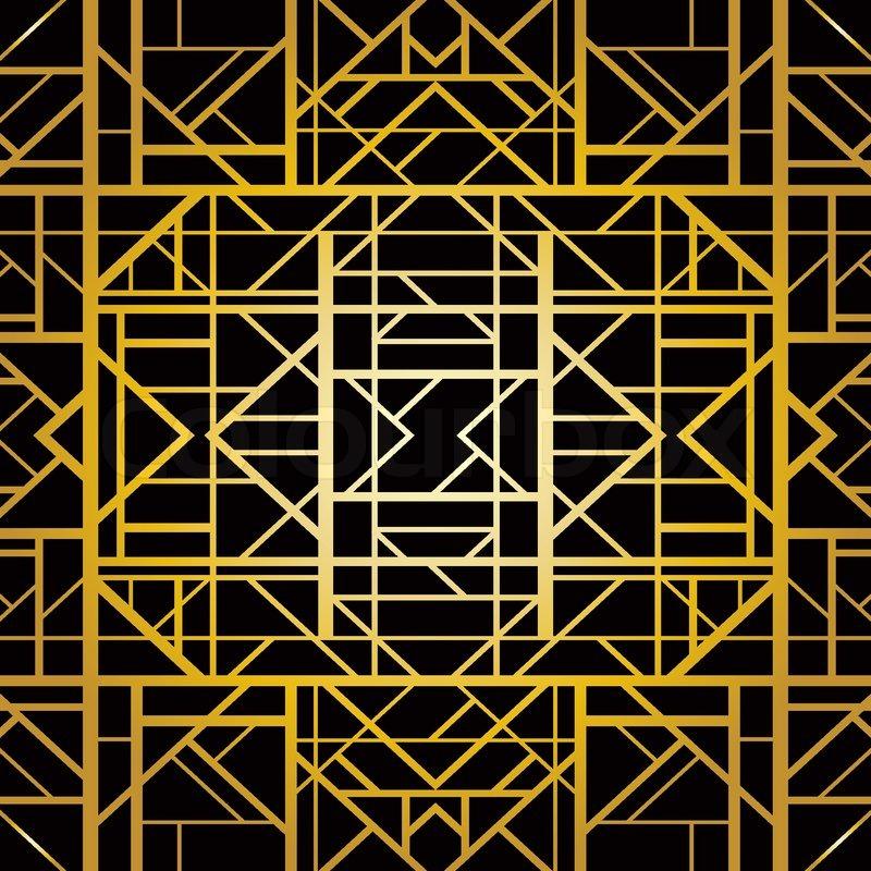 Art deco geometric pattern 1920 s style stock vector