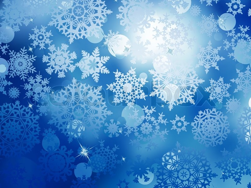 Free Falling Snow Wallpaper Blue Christmas Background With Snowflakes Eps 10 Stock