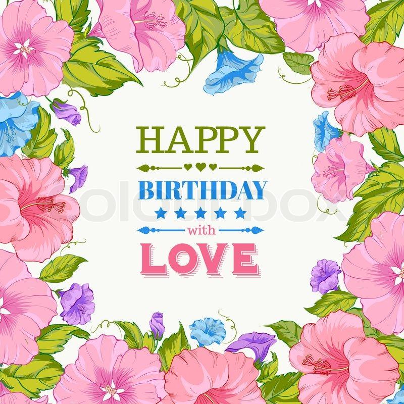 Tillykke med fødselsdagen kort stock foto Colourbox