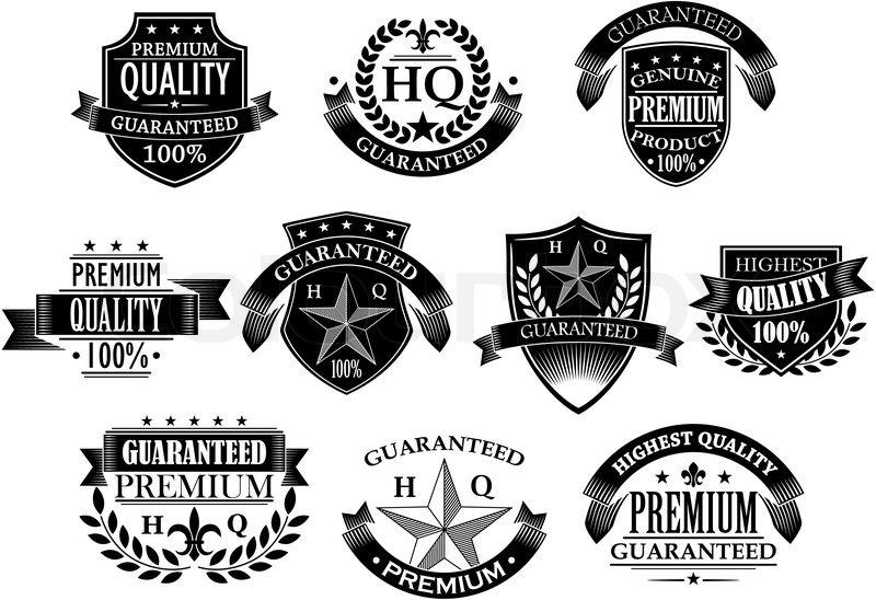 Banners and badges for retail design in retro style Stock Vector