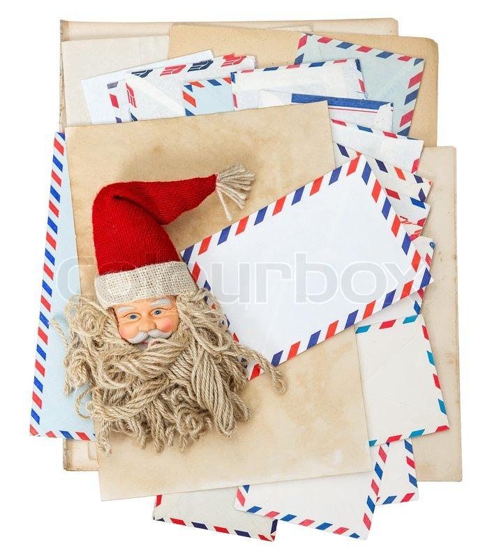 Vintage air mail envelopes, Santa Claus post Nostalgic christmas - Santa Envelopes