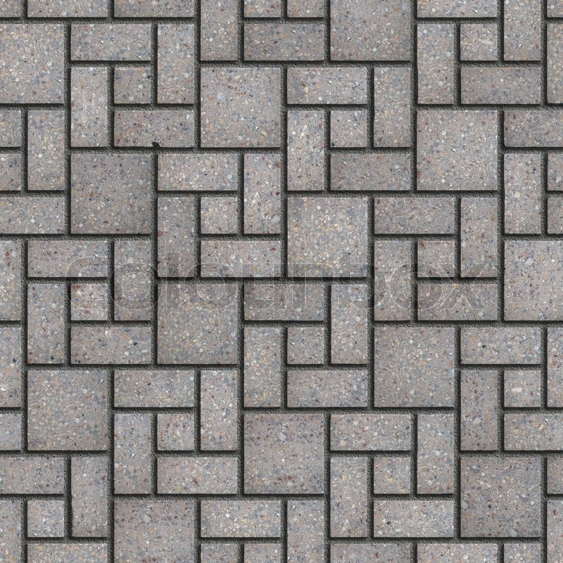 3d Tile Effect Wallpaper Gray Pavement Rectangular And Small And Big Square