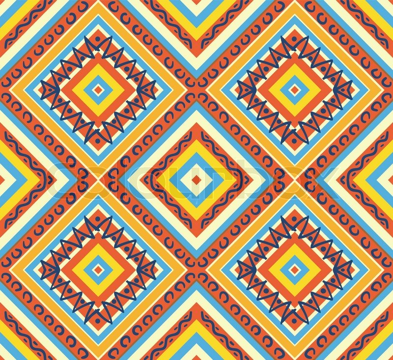 Tribal Pattern Wallpaper Hd Seamless Colorful Aztec Pattern Stock Vector Colourbox