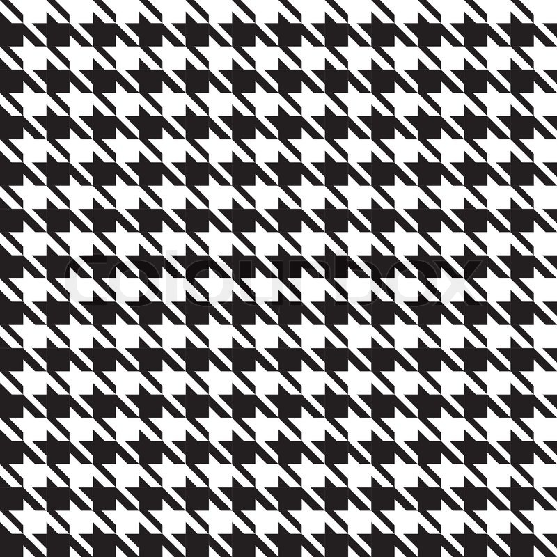 Black Plaid Wallpaper Houndstooth Seamless Pattern Stock Vector Colourbox