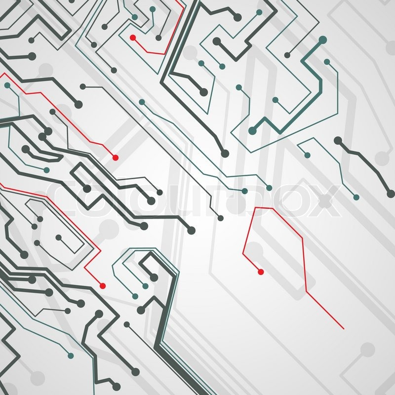 Circuit board background, technology illustration Stock Vector - circuit design background