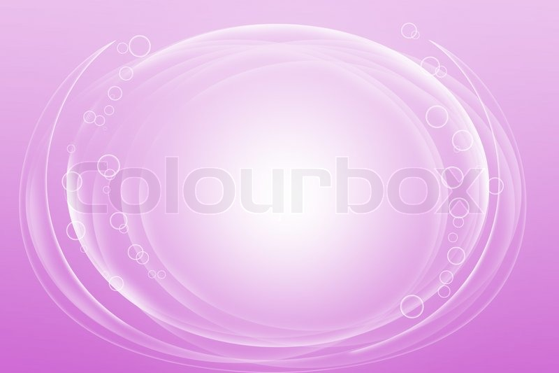 Abstract curve circle on soft purple Stock Photo Colourbox