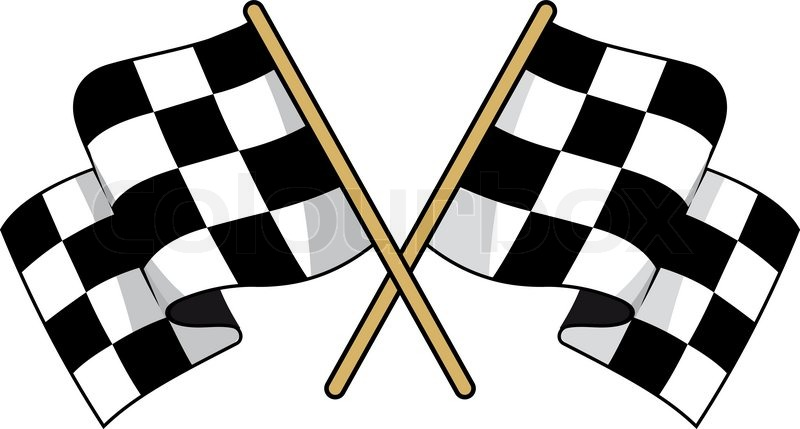 Pixar Cars Wallpaper Border Crossed Black And White Checkered Flags With Waving Fabric