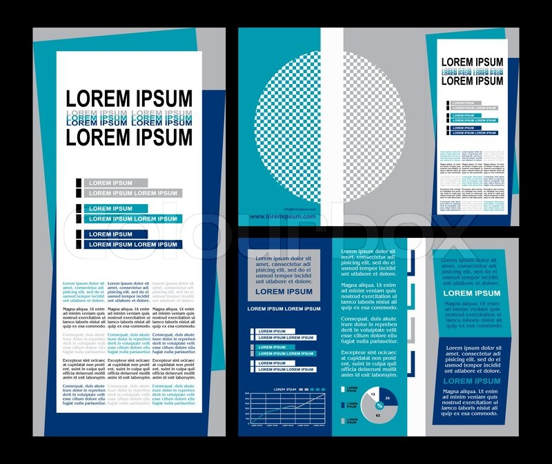 Business brochure layout, three fold flyer template design - contemporary flyer