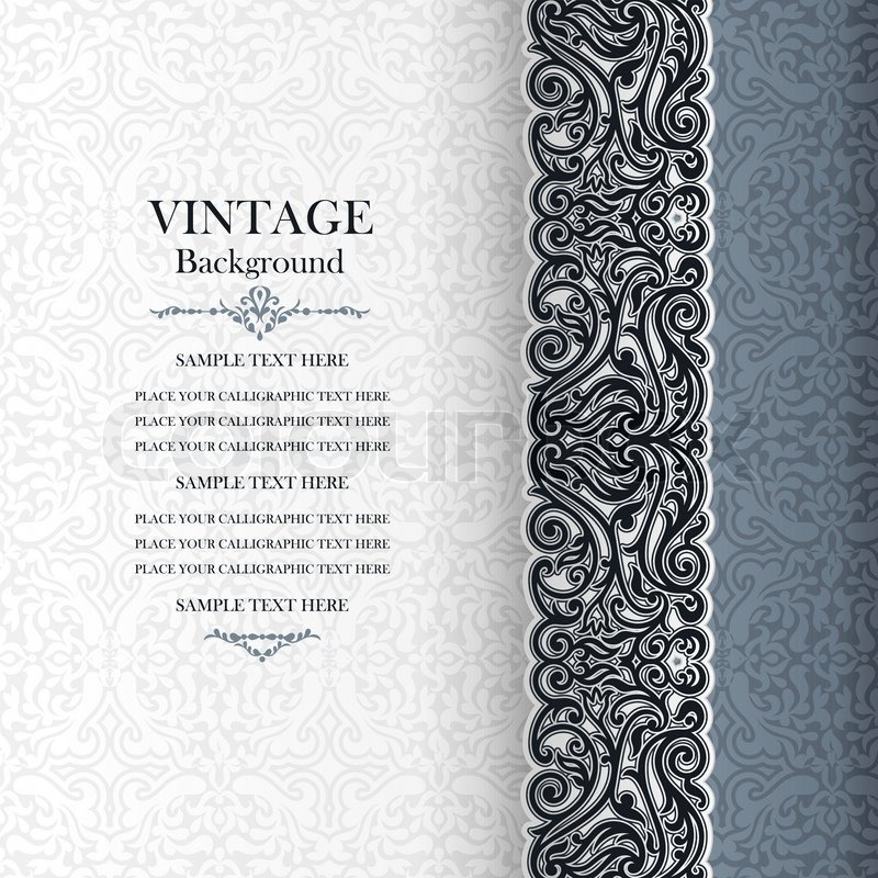 Vintage background, antique invitation Stock Vector Colourbox