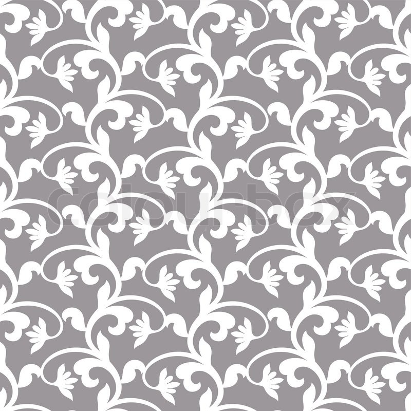 Vintage floral background, classic Stock Vector Colourbox