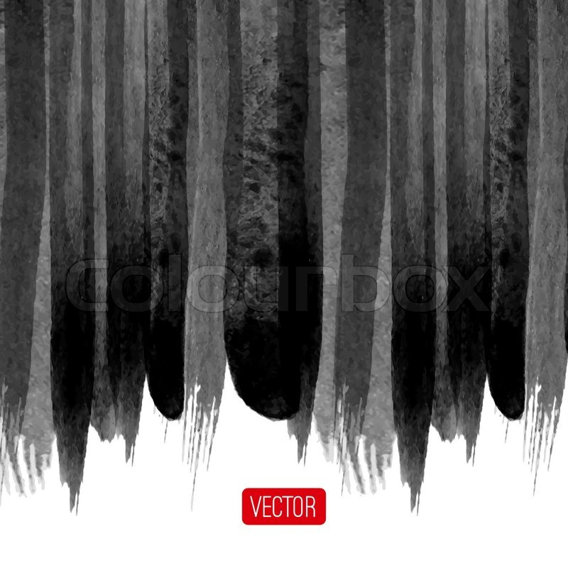Vector abstract watercolor background Black and white background