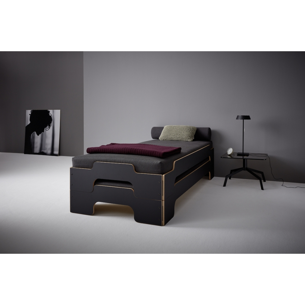 Müller Möbel Rolf Heide Stacking Bed Hpl Black Nunido