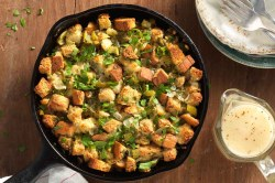 Sophisticated Stuffing Gravy Recipe King Arthur Flour Low Carb Stuffing Cauliflower Low Carb Stuffing Recipe
