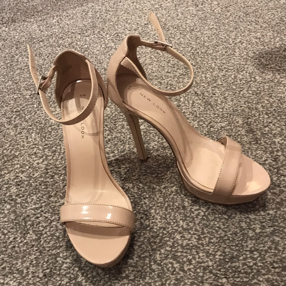 Nude Look New Look. Nude Really Comfy, Slight Platform Heels.... - Depop