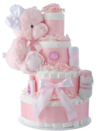 She's Perfect Baby Shower Diaper Cakes | Unique Diaper ...