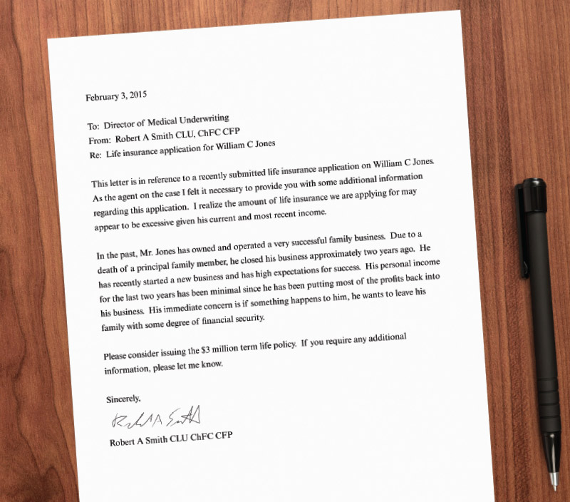 Consider A Cover Letter To Help Your Client\u0027S Underwriting