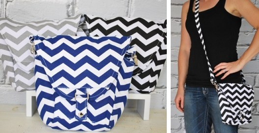Chevron Striped Camera Bag