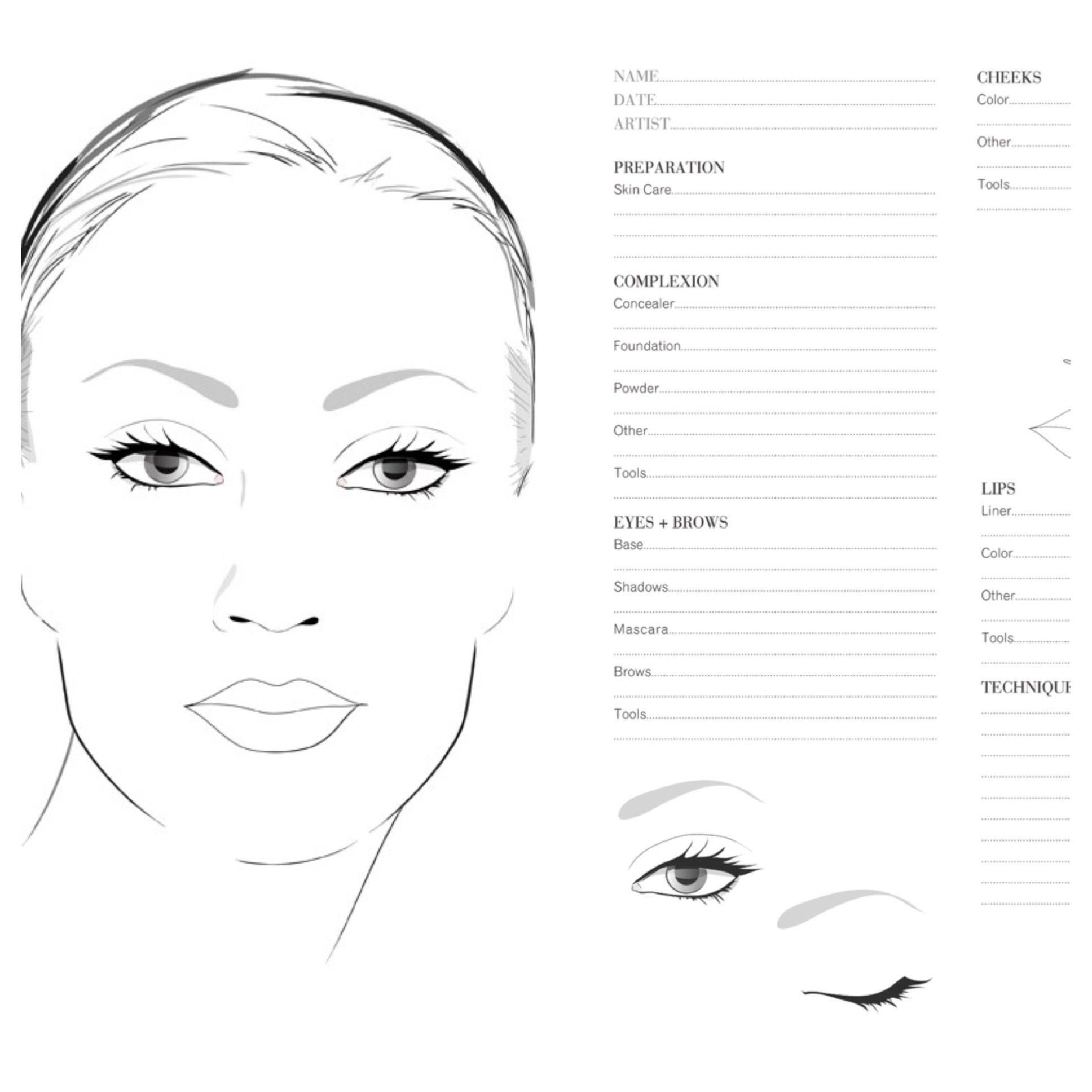 botox eye diagram