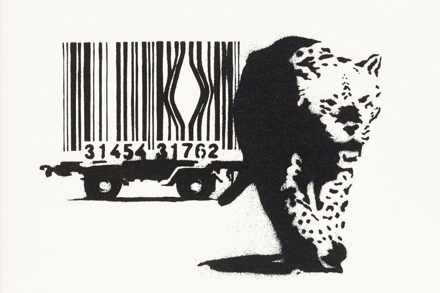 Leopard Animal Print Wallpaper Banksy Stencil Appears At School Exhibition Widewalls
