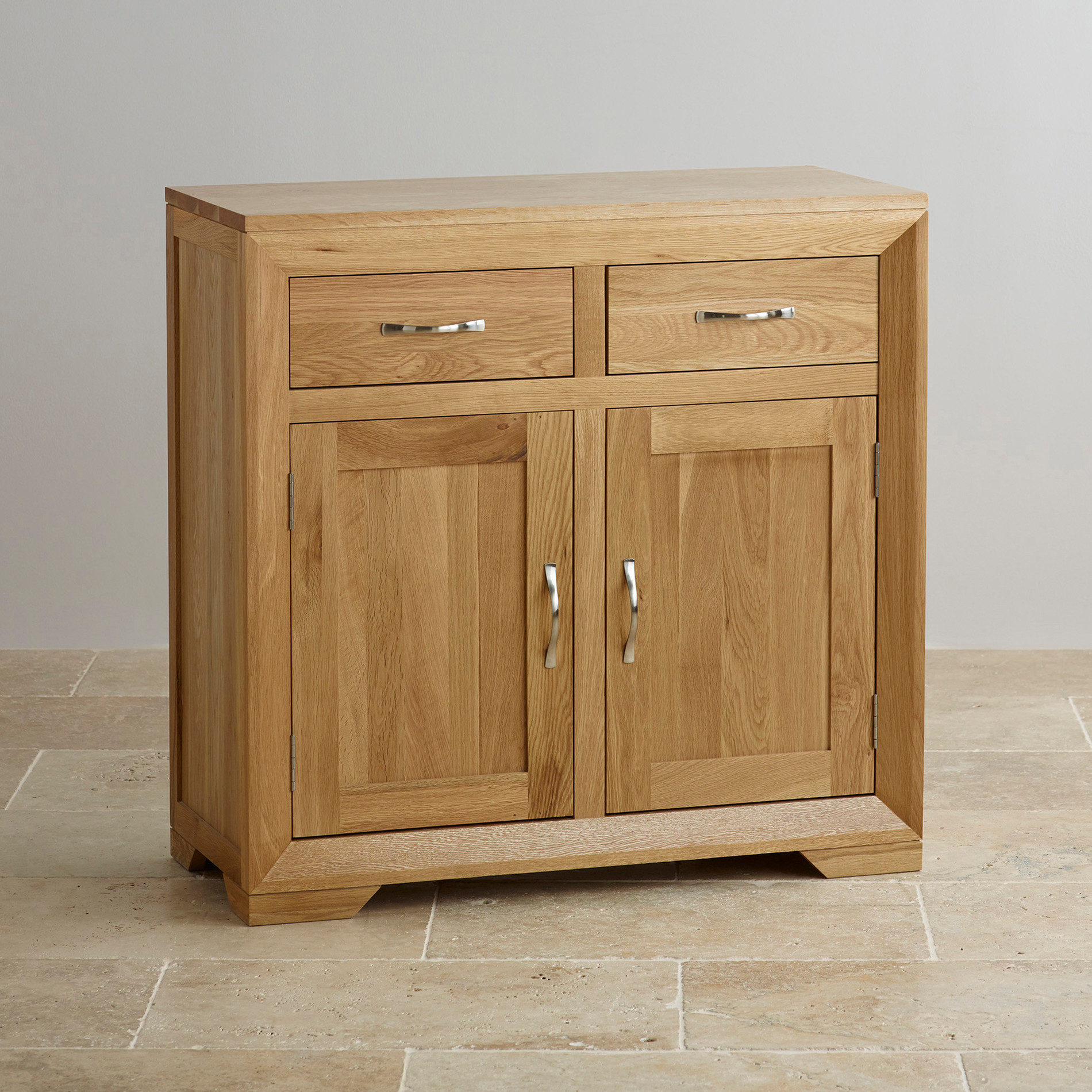 Side Board Bevel Small Sideboard In Natural Solid Oak Oak Furniture