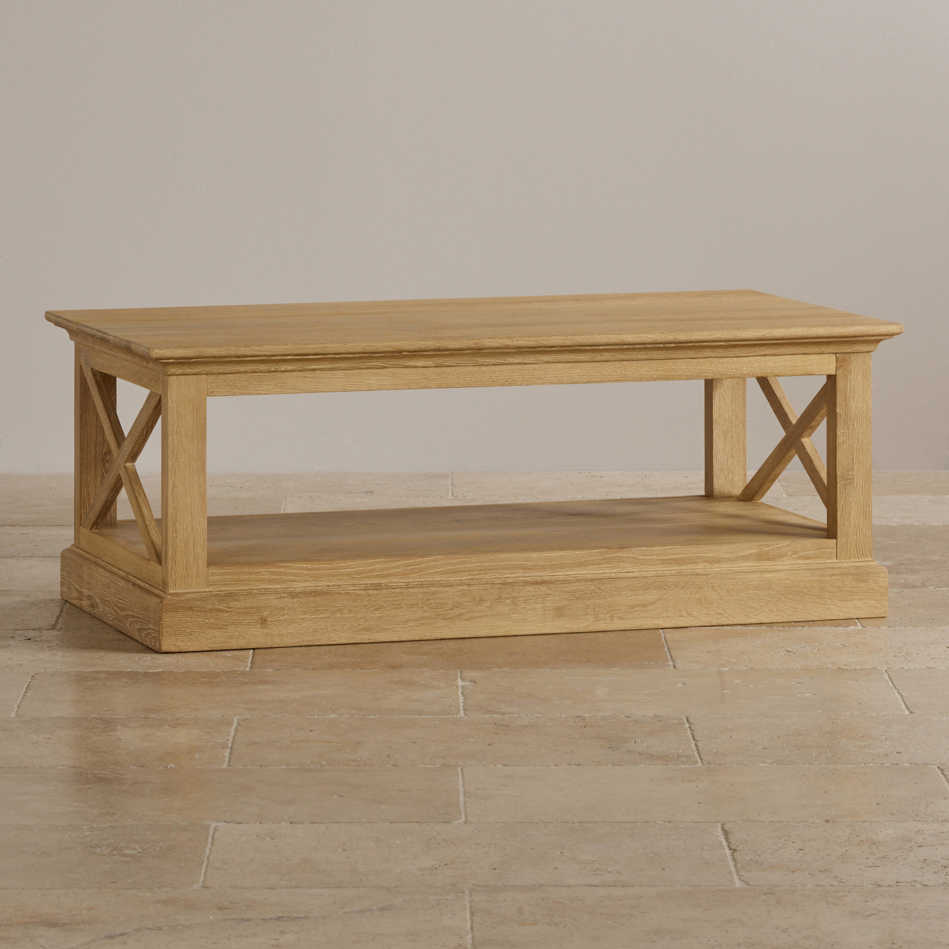 Coastal Coffee Table Coastal Coffee Table In French Washed Solid Oak