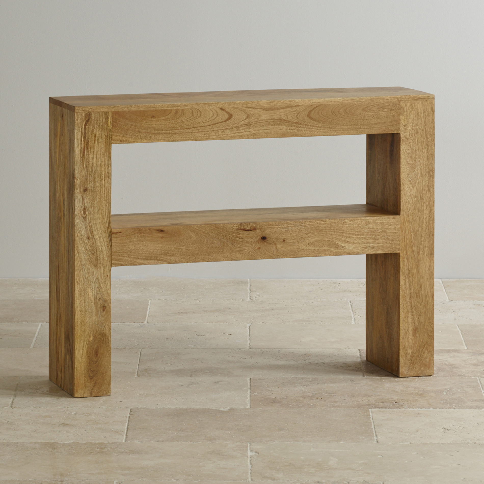 Table Consoles Mantis Light Console Table In Solid Mango Oak Furniture Land