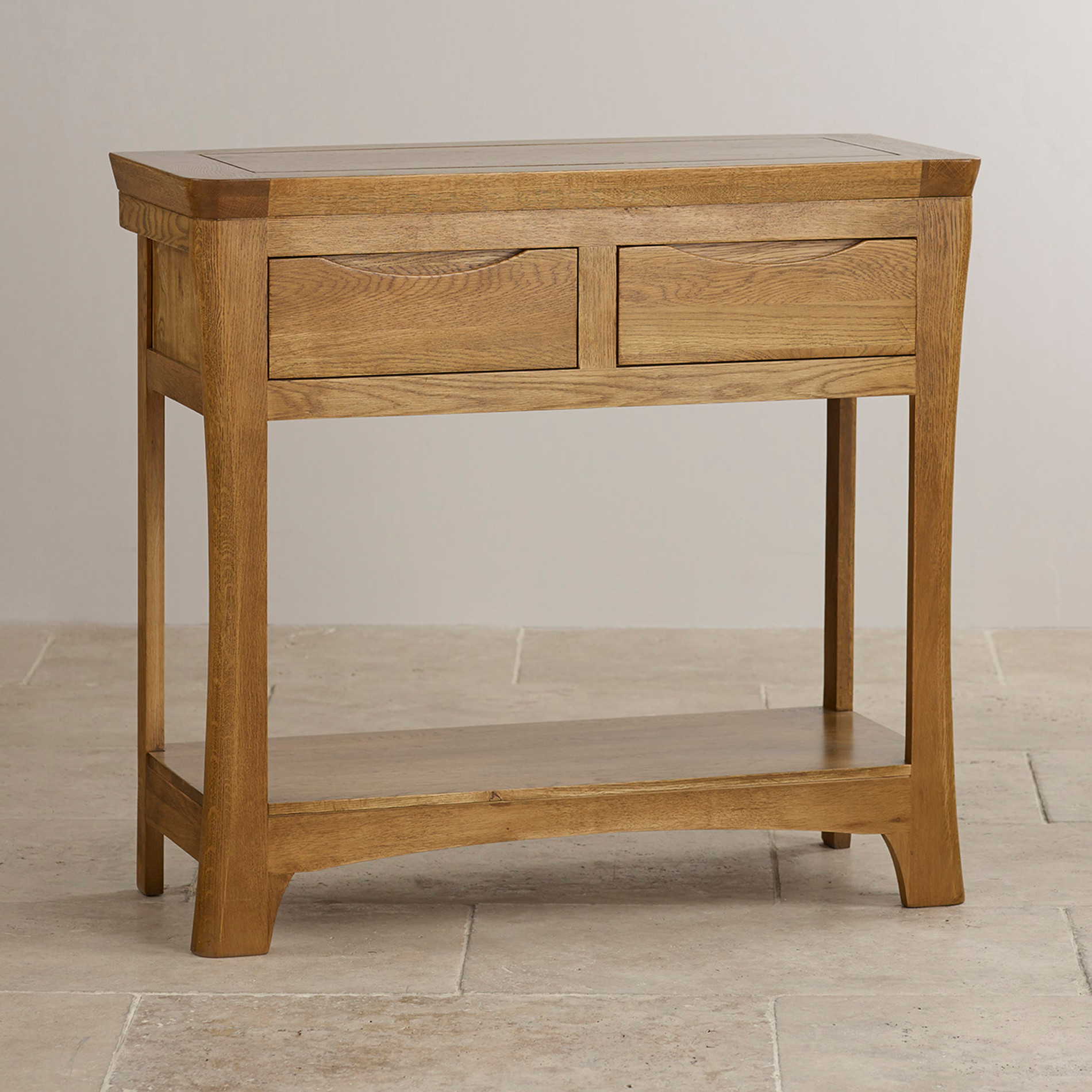 Table Consoles Orrick Console Table In Rustic Solid Oak Oak Furniture Land