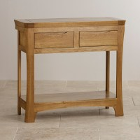 Orrick Console Table in Rustic Solid Oak