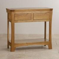 Orrick Console Table in Rustic Solid Oak | Oak Furniture Land