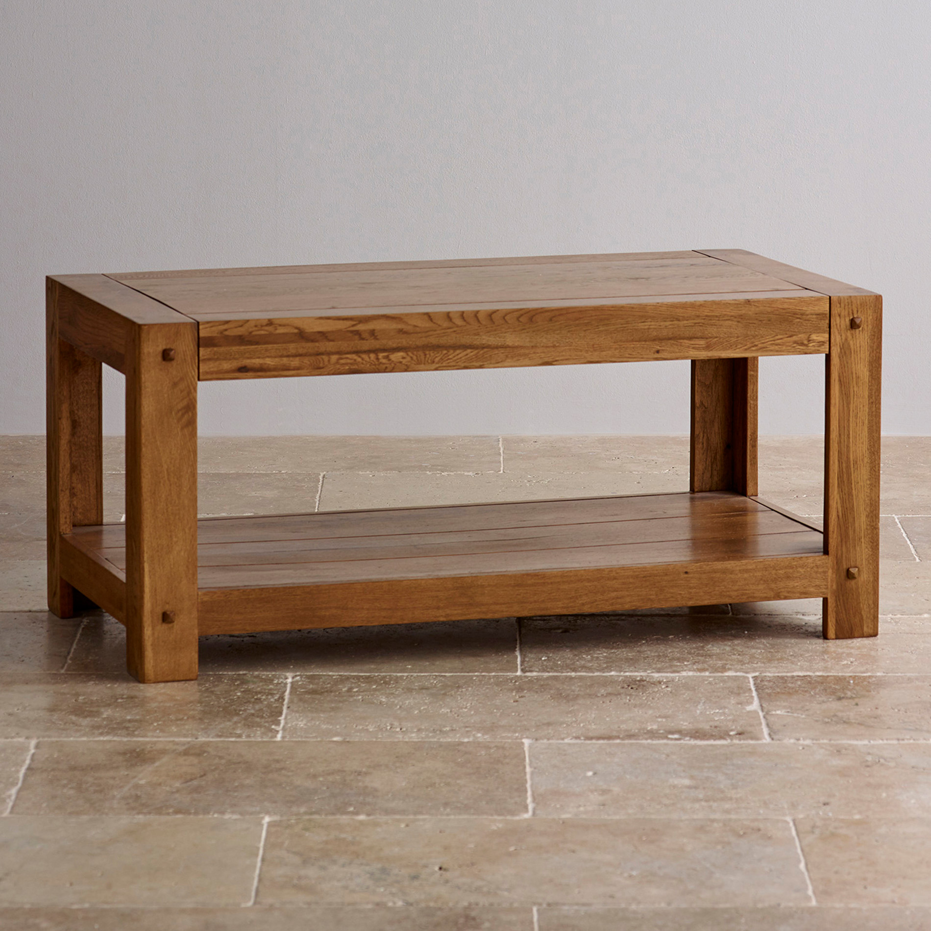 Eiche Couchtisch Quercus Coffee Table In Rustic Solid Oak Oak Furniture Land