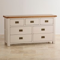 Kemble 3+4 Chest of Drawers in Rustic Painted Solid Oak