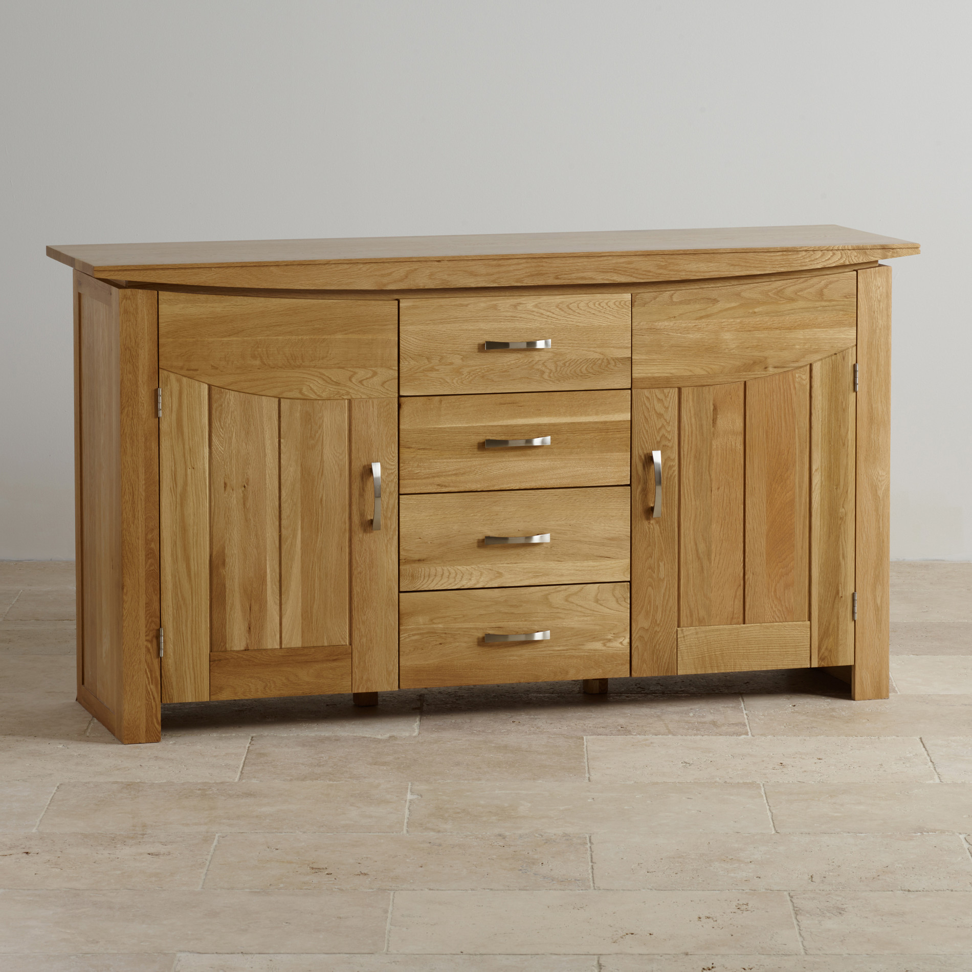 Side Board Tokyo Large Sideboard In Natural Solid Oak Oak Furniture