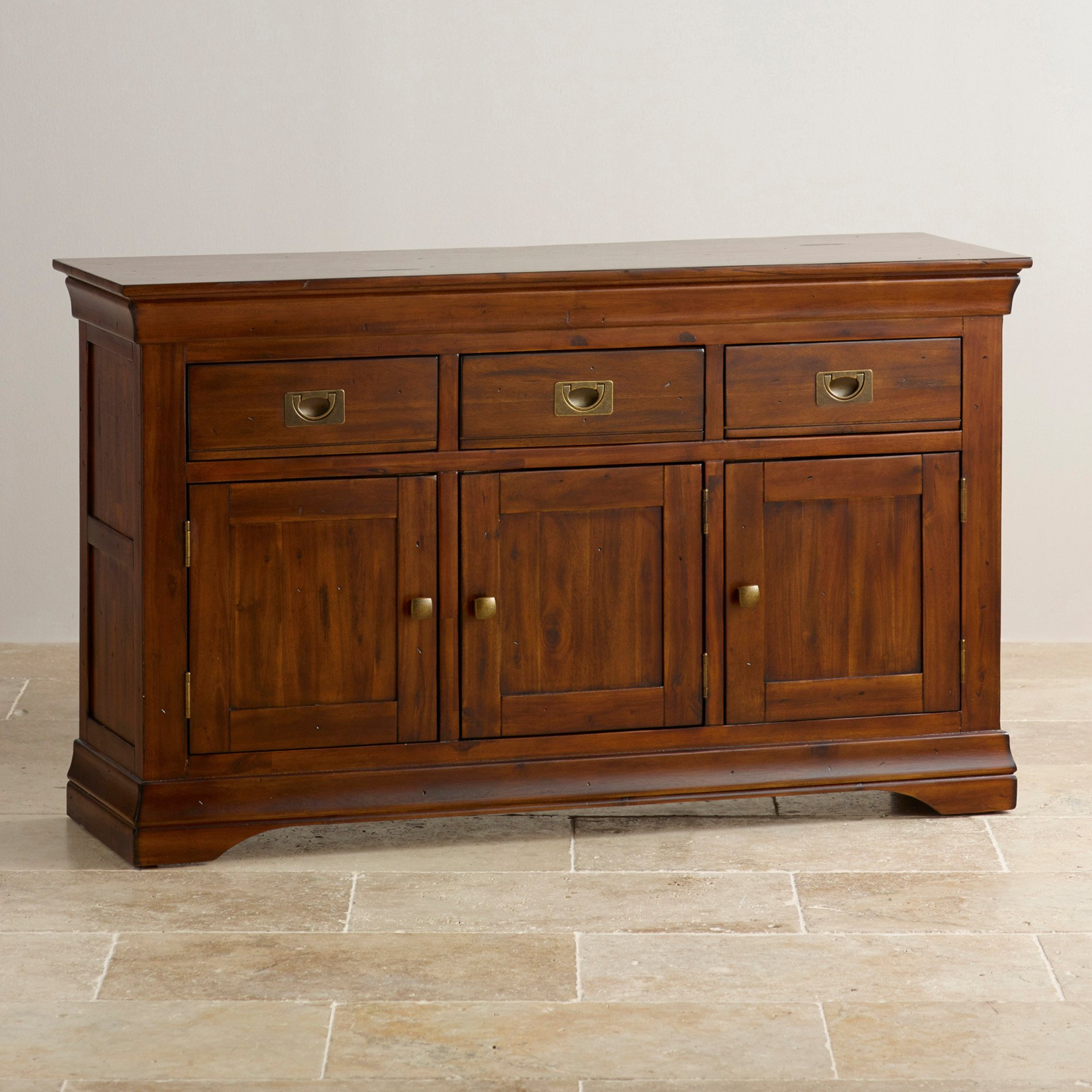 Side Board Victoria Large Sideboard In Solid Acacia Oak Furniture Land