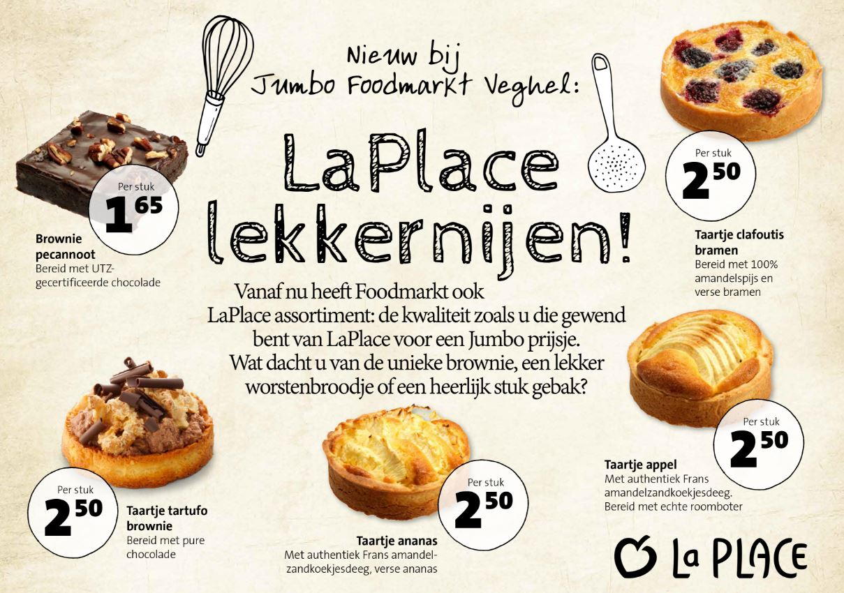 Jumbo Taarten Jumbo Zet La Place Assortiment In Foodmarkt