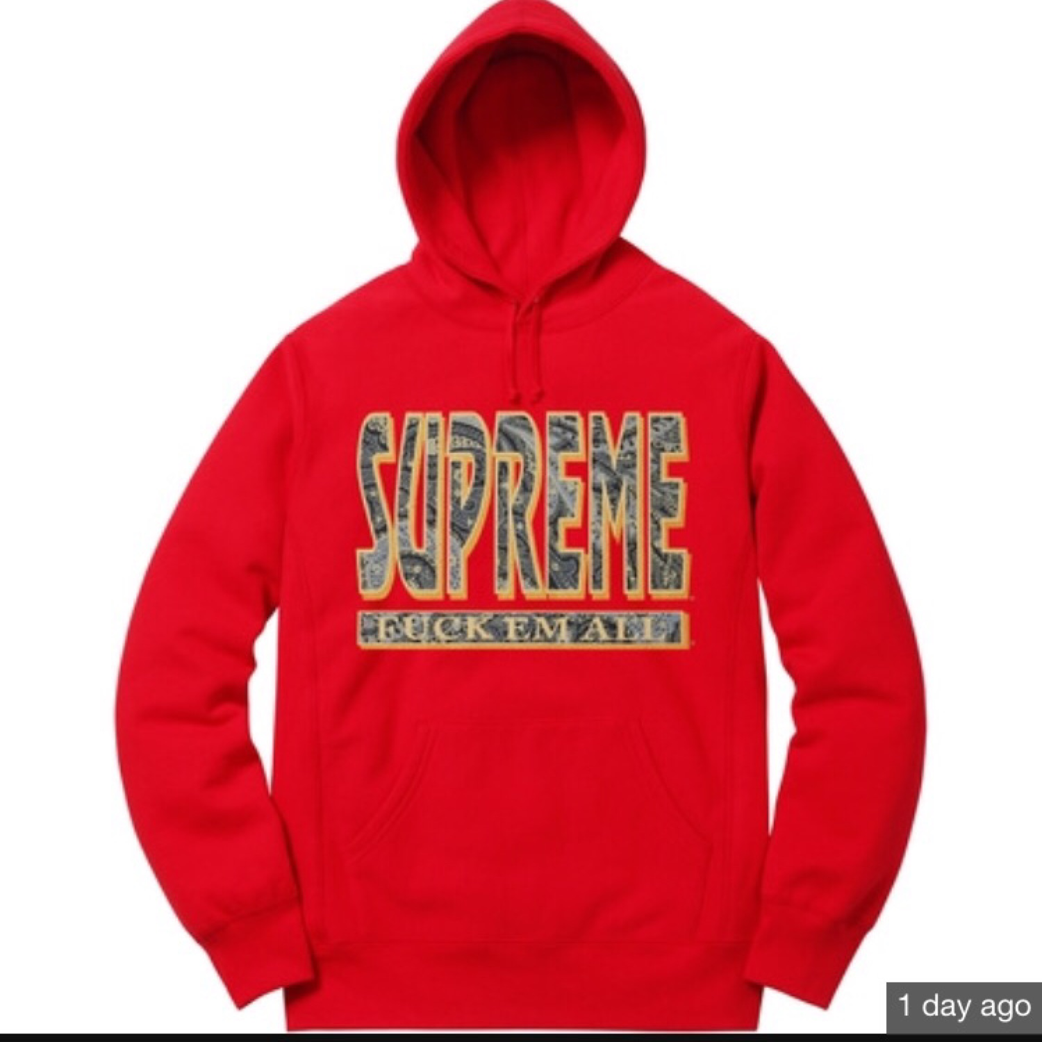 Supreme Sweater Supreme Paisley Fuck Em All Sweater Hoodie