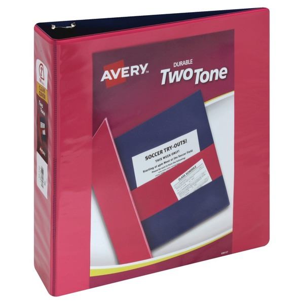 Avery Binder, Durable Two Tone, Clear Cover, 2 Inch (1 ea) from