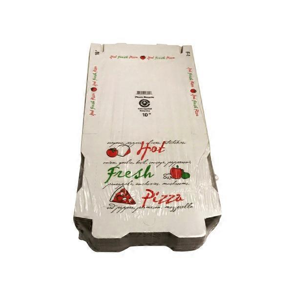 White Printed 10 Inch Pizza Boxes from Smart  Final - Instacart