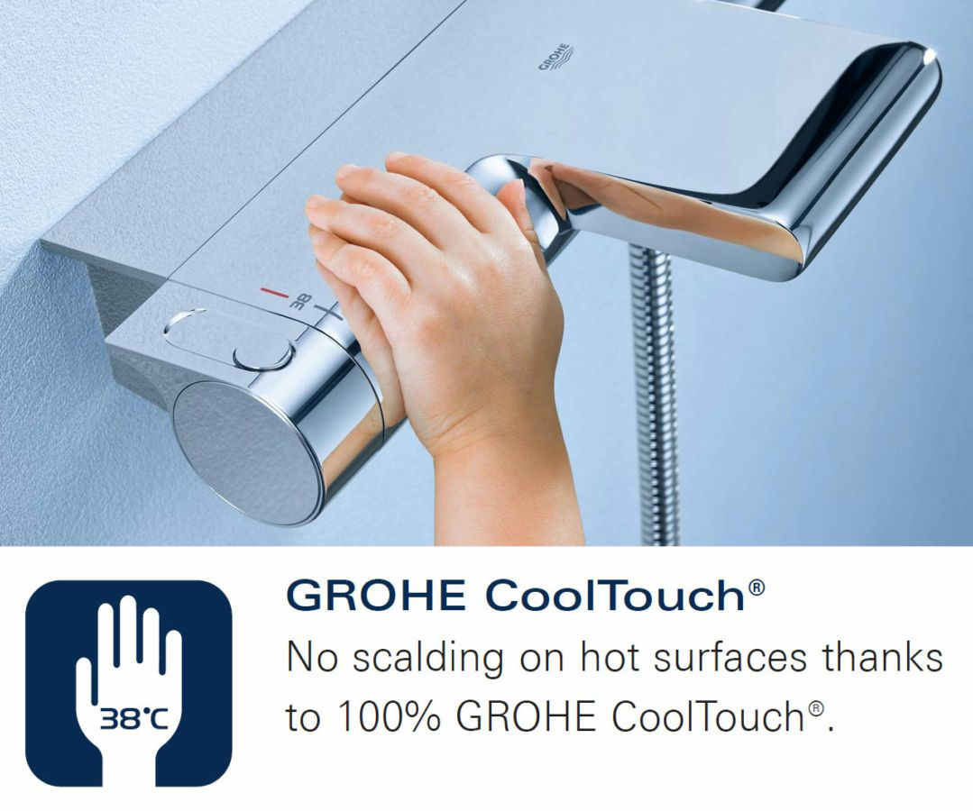 Grohe 2000 Grohe Grohtherm 2000 Thermostatic Shower Mixer Valve