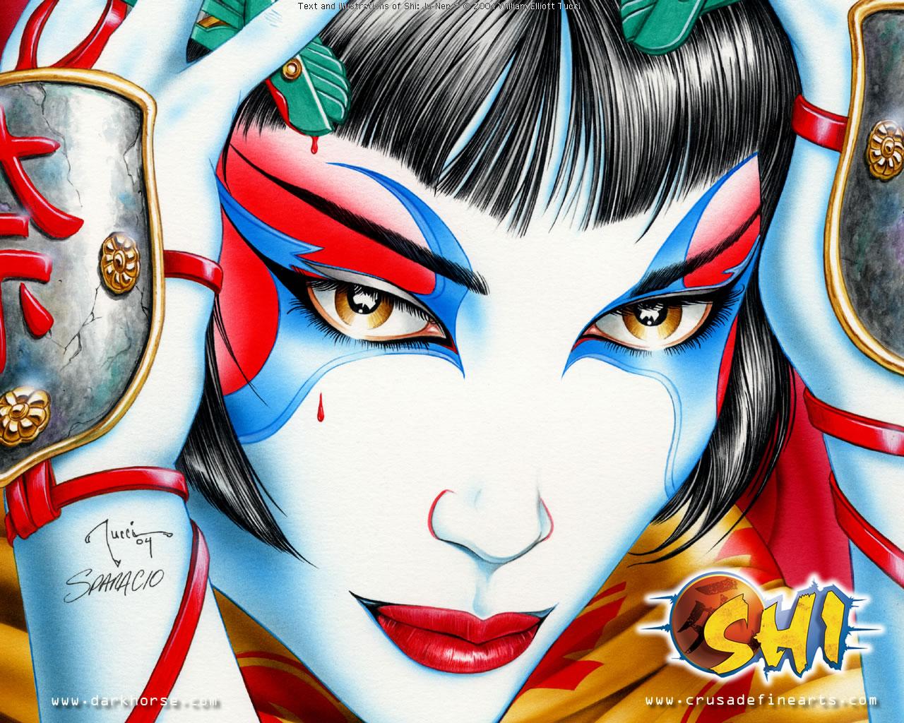 X Wallpaper Girl Shi Desktops Dark Horse Comics