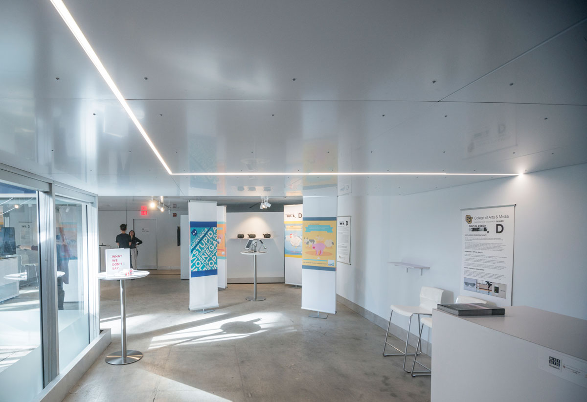 Ceiling Design Retail Architecture Students Revamp Retail Space Into Art Gallery